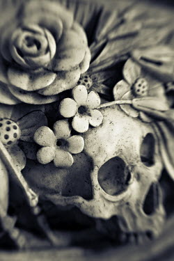 Mark Sadlier SKULLS AND ROSES IN STONE Statuary/Gravestones