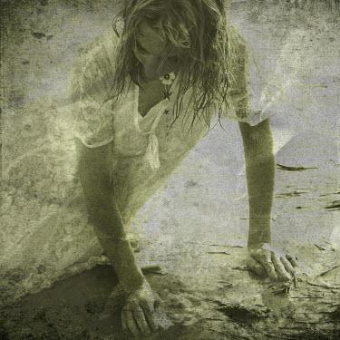 Karina Simonsen WOMAN IN WHITE ON BEACH Women