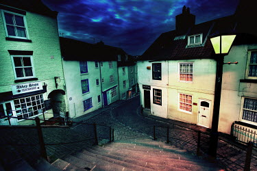 David Hirst VILLAGE AT NIGHTTIME Specific Cities/Towns