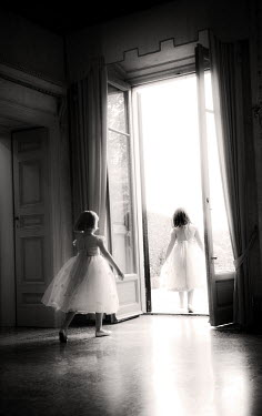 Claire Morgan TWO GIRLS IN WHITE DRESSES Children