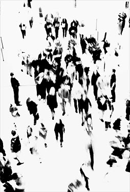 David Gibson CROWD IN STATION FORM ABOVE Groups/Crowds