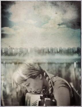 Gary Isaacs YOUNG WOMAN OUTSIDE Women