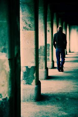 Andy & Michelle Kerry MAN WALKING PAST COLUMNS Men