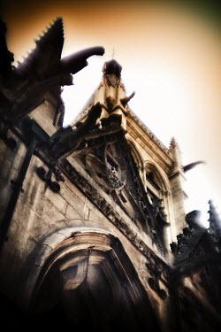 Romain Bayle GARGOYLES ABOVE CHURCH ENTRANCE Religious Buildings