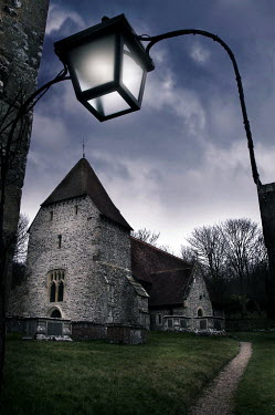 Geoff Eley CHURCH UNDER CLOUDY SKY Religious Buildings