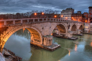 Maurizio Blasetti STONE BRIDGE IN CITY Specific Cities/Towns