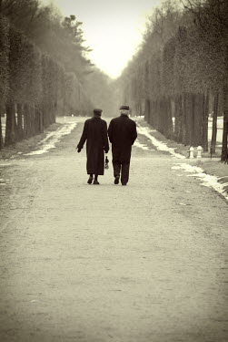 Michael Trevillion COUPLE ON TREE LINED PATH Couples