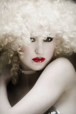 Emma Delves-Broughton RETRO WOMAN WITH BLONDE CURLY HAIR Women