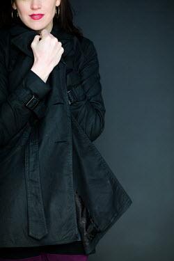 Elisa Lazo de Valdez WOMAN WEARING BLACK COAT Women