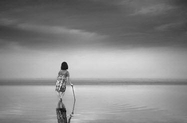Chris Friel GIRL STANDING ON BEACH Children