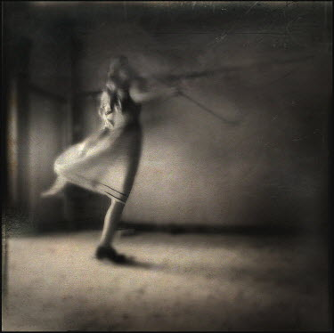 Gary Isaacs WOMAN DANCING IN EMPTY ROOM Women