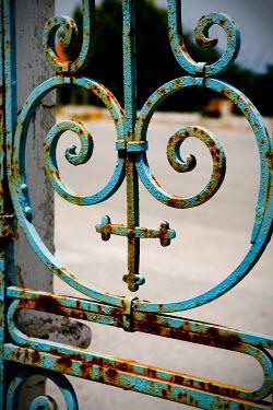 John Cooper OLD RUSTY ORNATE GATE Gates