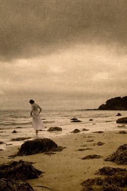 Clayton Bastiani WOMAN ALONE ON BEACH Women
