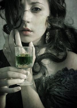 Chiara Fersini WOMAN WITH GREEN DRINK Women