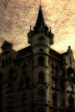 Tom Meadow GOTHIC EUROPEAN BUILDING AT NIGHT Miscellaneous Buildings