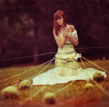 Oleg Oprisco WOMAN LINKED TO ROCKS WITH STRING Women