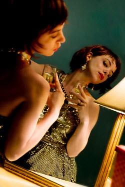 Dana France WOMAN LOOKING IN MIRROR Women