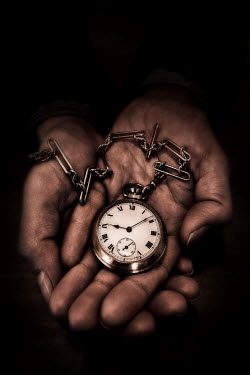 Paul Knight HANDS HOLDING ANTIQUE STOPWATCH Miscellaneous Objects