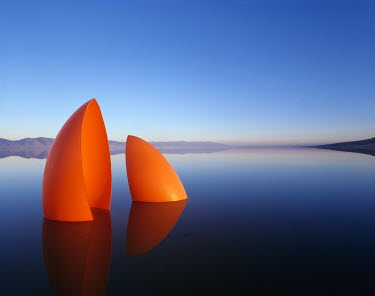 Dennis Mecham CONTEMPORARY SCULPTURE IN LAKE Lakes/Rivers