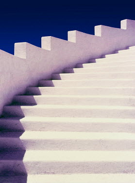 Dennis Mecham WHITE STONE STAIRCASE Stairs/Steps