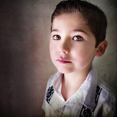 Vanesa Munoz YOUNG BOY IN WHITE SHIRT Children