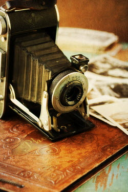 Susan Fox OLD CAMERA WITH PHOTOGRAPHS Miscellaneous Objects