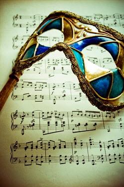 Valentino Sani MASK ON SHEET MUSIC Miscellaneous Objects