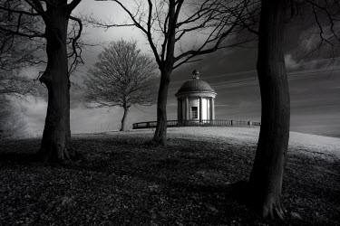Matt Nuttall FOLLY OUTBUILDING IN GARDEN AT NIGHT Miscellaneous Buildings