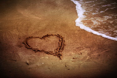 Laura Franco HEART DRAWN IN SAND Seascapes/Beaches