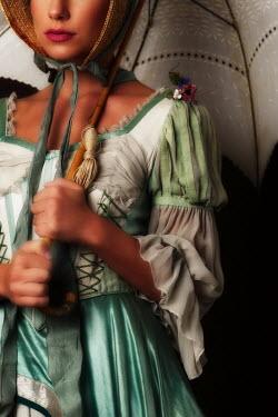 Ricardo Demurez REGENCY WOMAN HOLDING PARASOL Women