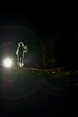 Terry Bidgood GIRL IN HEAD LIGHTS Children