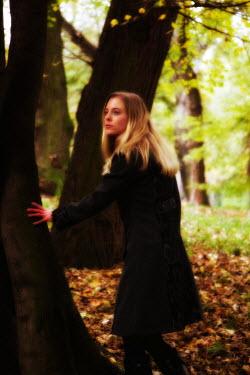 Tom Meadow Blonde Woman Touching Tree Women