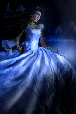 Dana France WOMAN IN BALL GOWN AT NIGHT Women