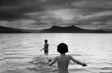 Chris Friel TWO BOYS RUN INTO SEA Children