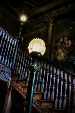 Stuart Brill TWO LIT LAMPS INDOORS Interiors/Rooms