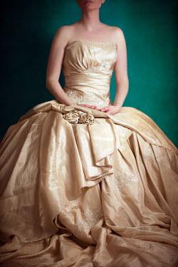 Susan Fox WOMAN SITTING CREAM SILK DRESS Women