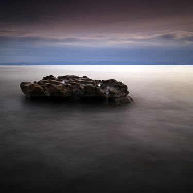 Gary Newman LARGE ROCK IN SEA Seascapes/Beaches