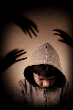 Clayton Bastiani BOY SURROUNDED BY SHADOW OF HANDS Children