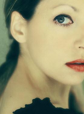 Irene Lamprakou DARK HAIRED WOMAN FACE LIPS Women