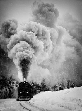 Ralph Graef LOCOMOTIVE STEAM SNOW CLOUD Railways/Trains