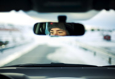 Lara Alegre reflection in mirror of person driving vehicle Miscellaneous Transport