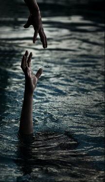 Terry Bidgood MAN DROWNING IN LAKE Body Detail