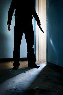 Lee Avison MAN WITH KNIFE IN ROOM Men