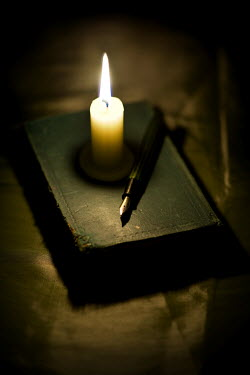 Lee Avison CANDLELIGHT WITH BOOK AND PEN Miscellaneous Objects