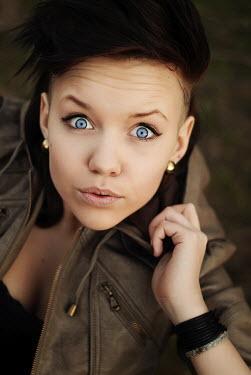 Lena Okuneva MISCHIEVOUS TEENAGER WEARING JACKET Children