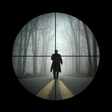 Stephen Carroll MAN TARGETED BY GUN TELESCOPE Men