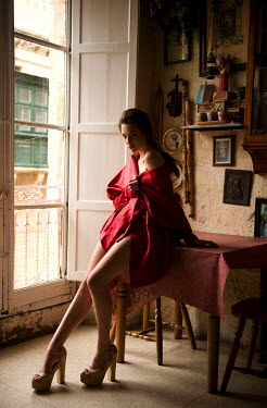 Rebecca Miller SEDUCTIVE WOMAN SITTING IN OLD HOUSE Women