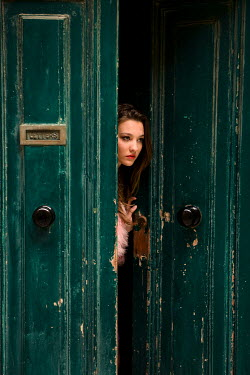 Rebecca Miller WOMAN OPENING PAINTED DOOR Women