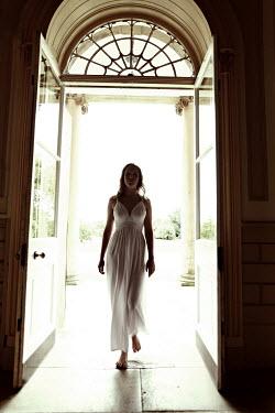 Andy & Michelle Kerry WOMAN IN DRESS WALKING TROUGH DOOR Women