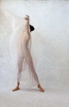 Ann Cutting NUDE WOMAN DANCING WITH SILK Women